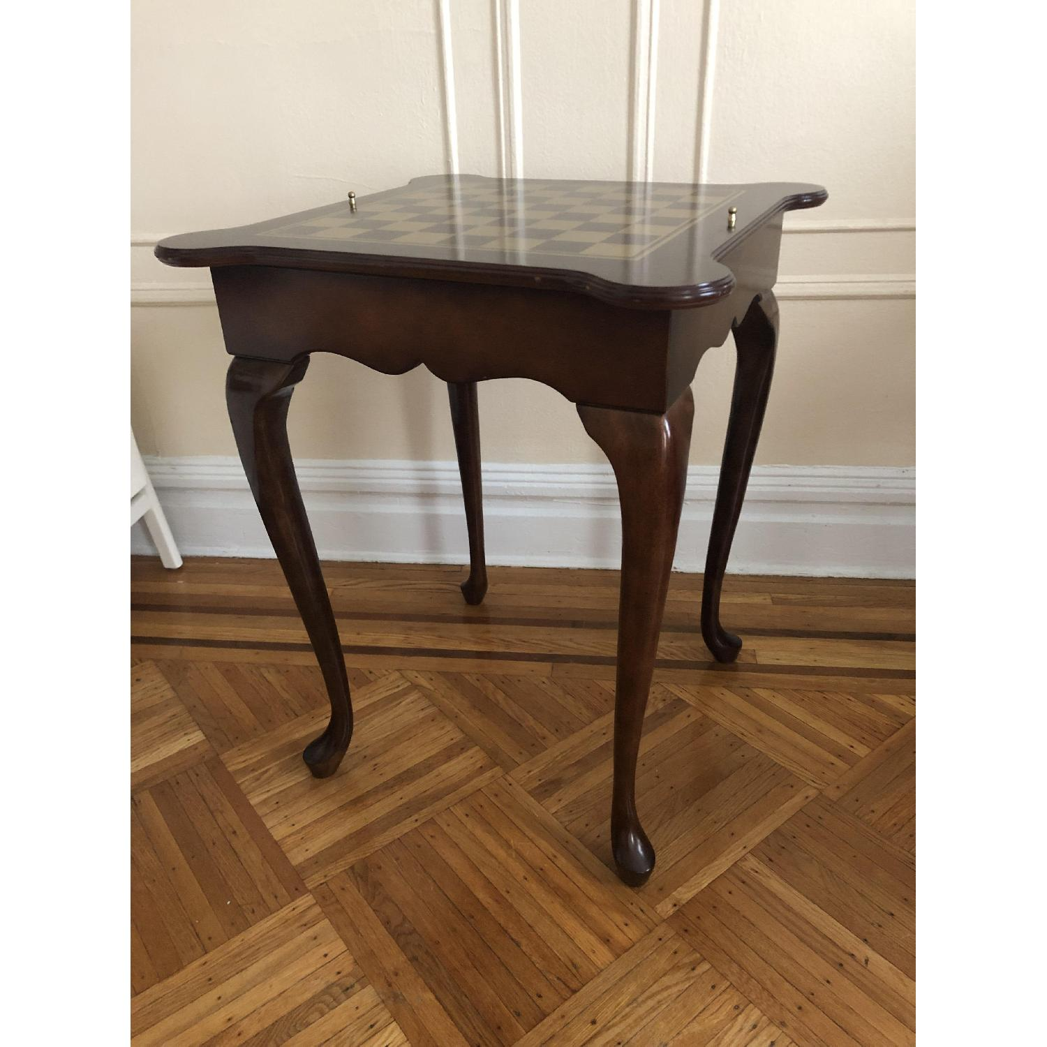 Georgian Style Leather Top Game Table-29