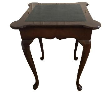 Georgian Style Leather Top Game Table