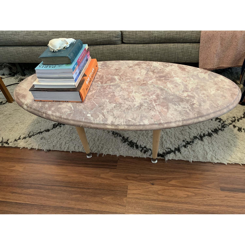 Vintage Pink Marble Coffee Table-0