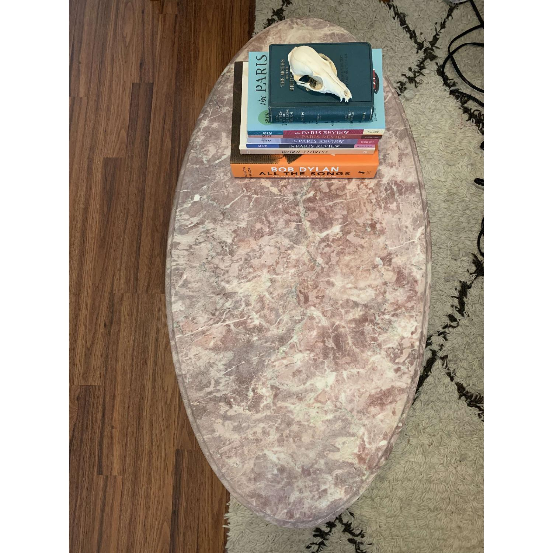 Vintage Pink Marble Coffee Table-1