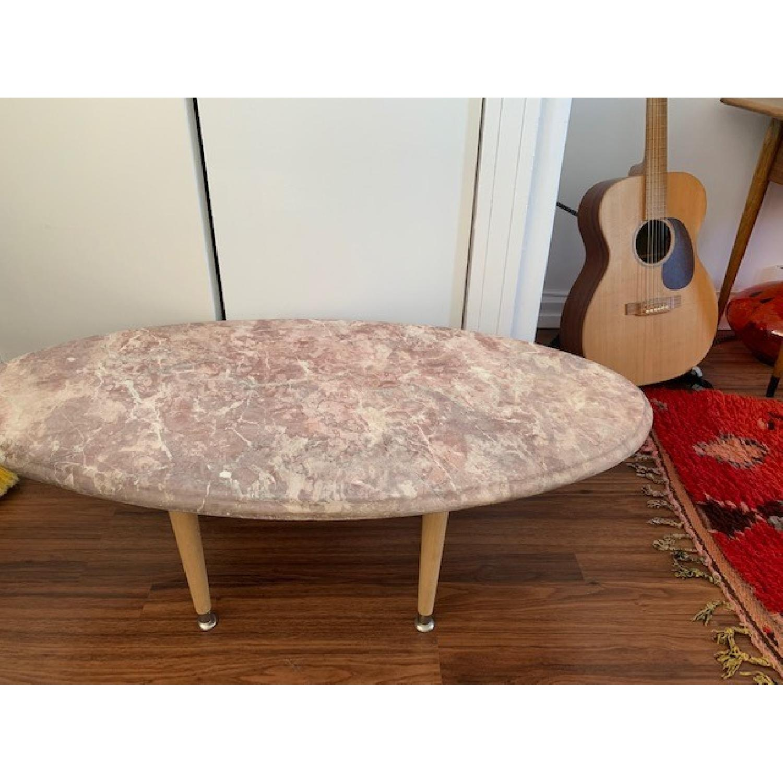 Vintage Pink Marble Coffee Table-2