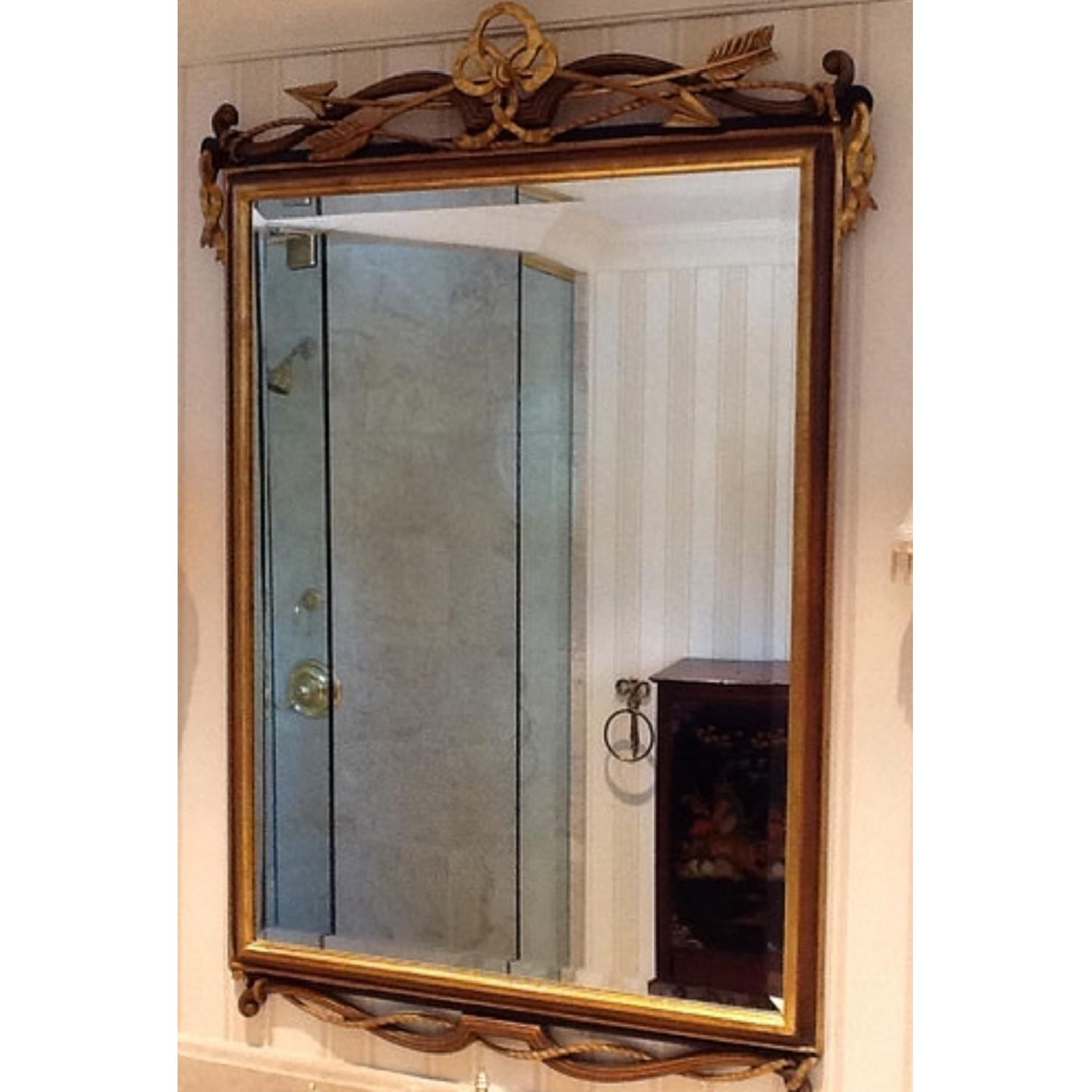 Vintage Italian Beveled Glass Mirror-1