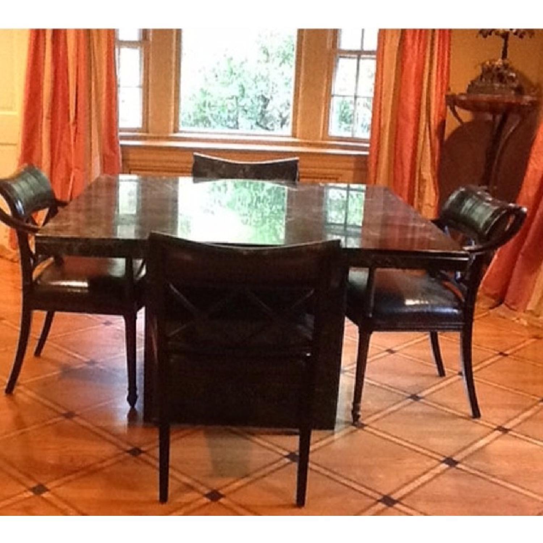 Marble Craftsman Italian Marble Table in Verde Green-0