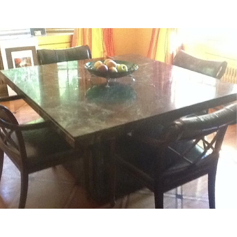 Marble Craftsman Italian Marble Table in Verde Green-1