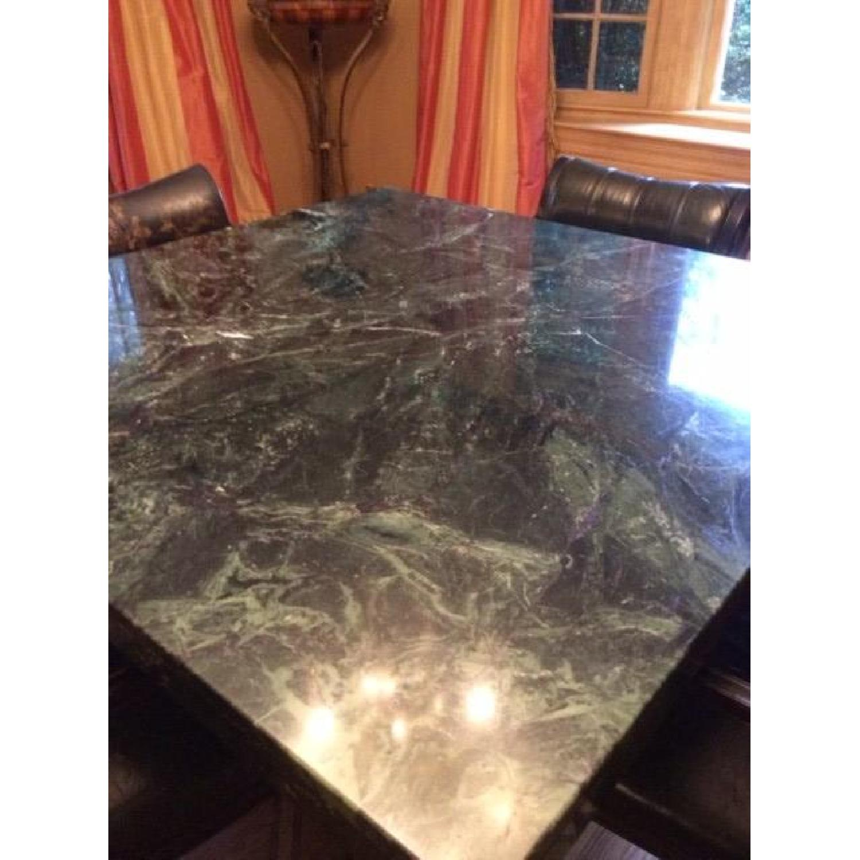 Marble Craftsman Italian Marble Table in Verde Green