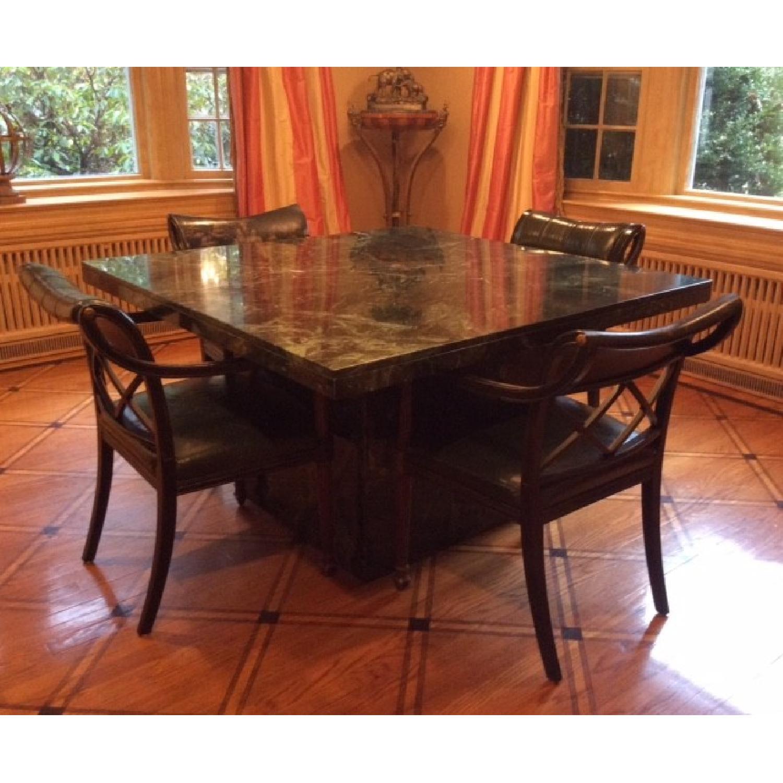 Marble Craftsman Italian Marble Table in Verde Green-2