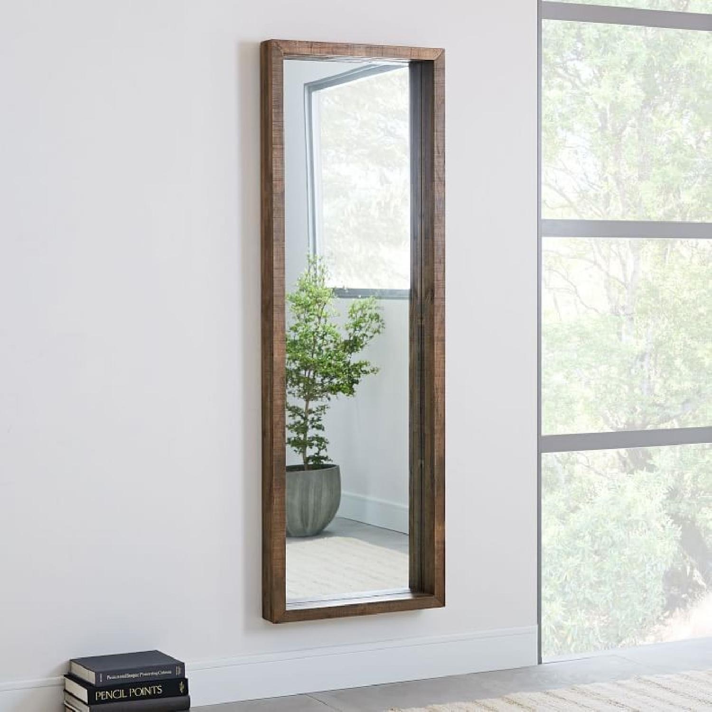West Elm Emmerson Modern Reclaimed Wood Floor Mirror-0