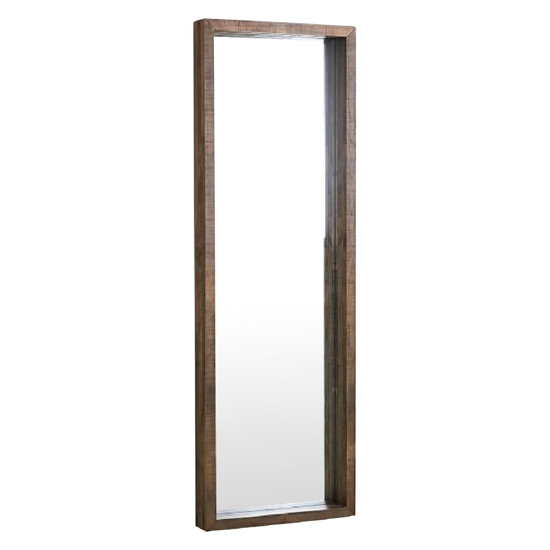 West Elm Emmerson Modern Reclaimed Wood Floor Mirror