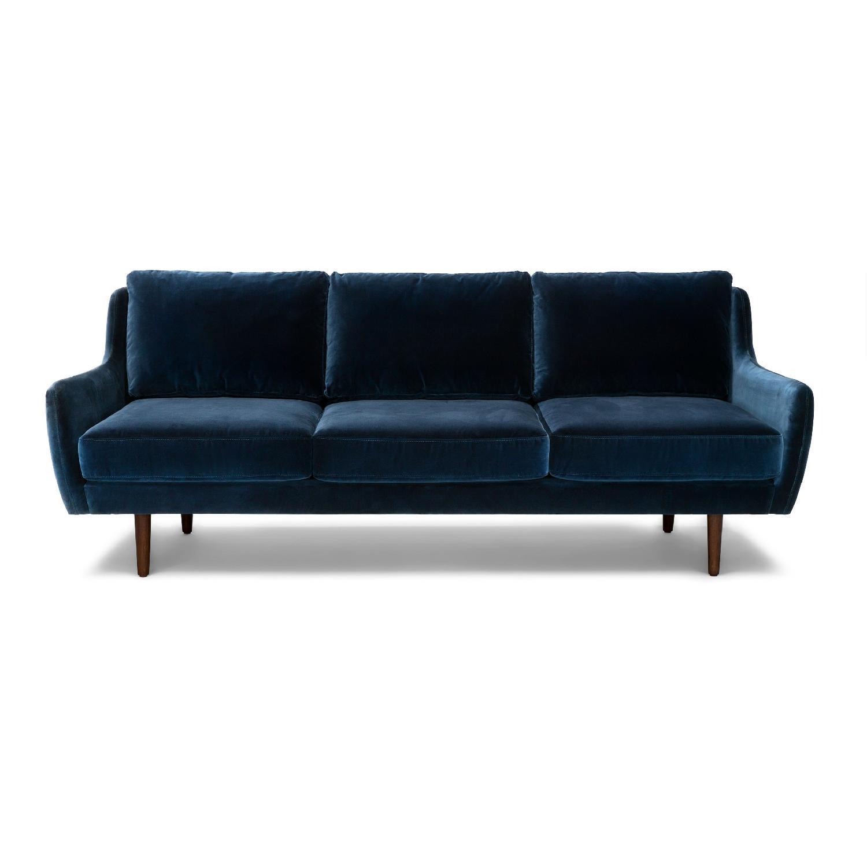Article Matrix Velvet Blue Sofa Aptdeco