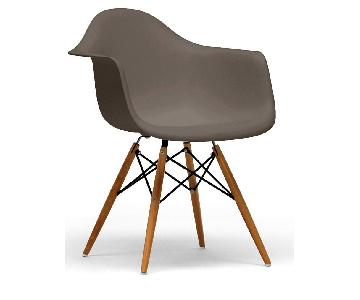 Baxton Studio Eames Style Taupe Dining Chairs
