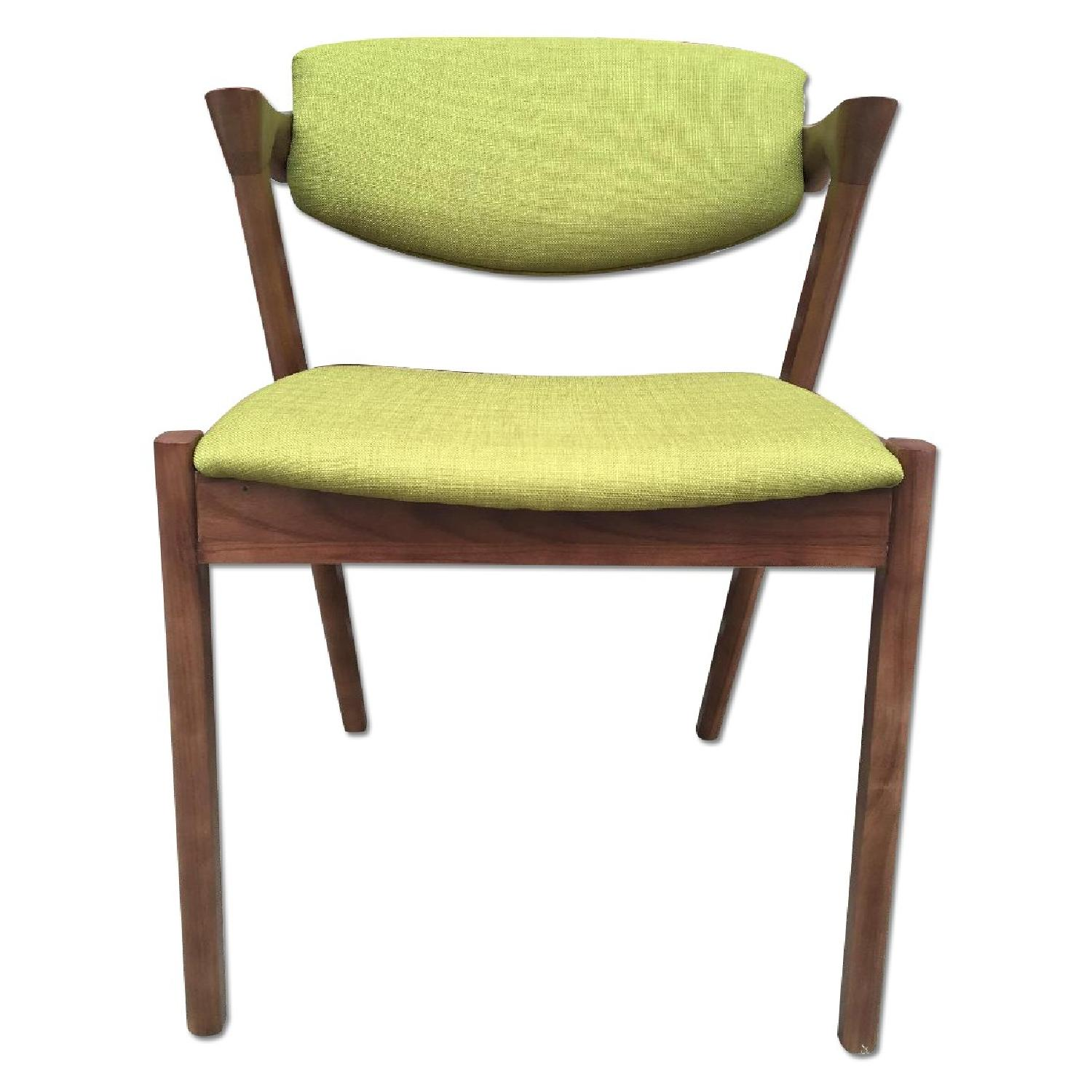 Mid century danish modern dining arm chairs aptdeco for Mid century danish modern chair