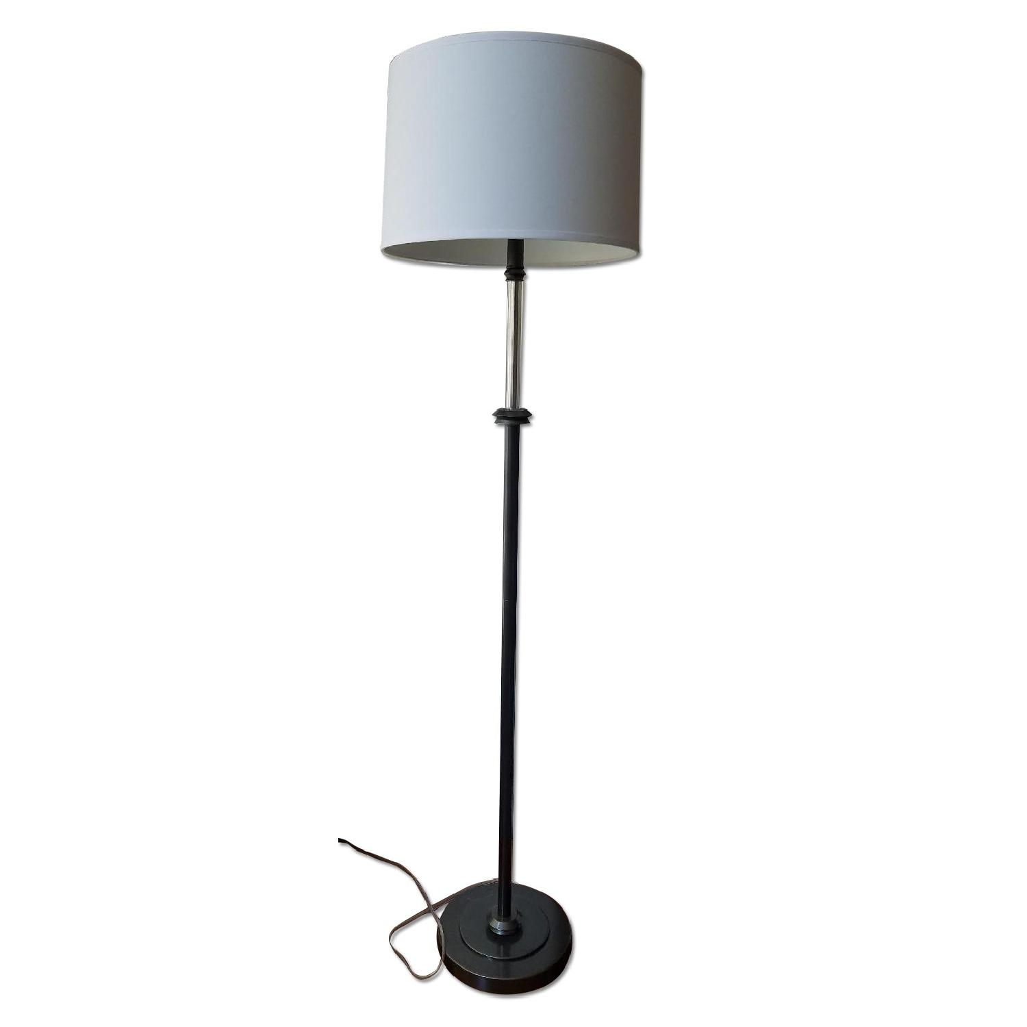 Lamps Plus Clear Acrylic Column Floor Lamp In Oil Rubbed