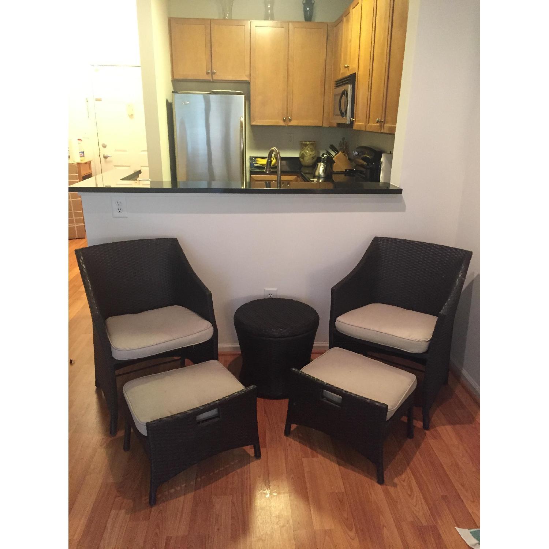 Threshold Loft 5-Piece Wicker Patio Conversation Furniture Set - image-1