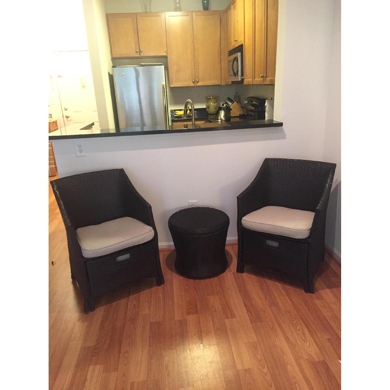 Threshold Loft 5-Piece Wicker Patio Conversation Furniture Set - image-2