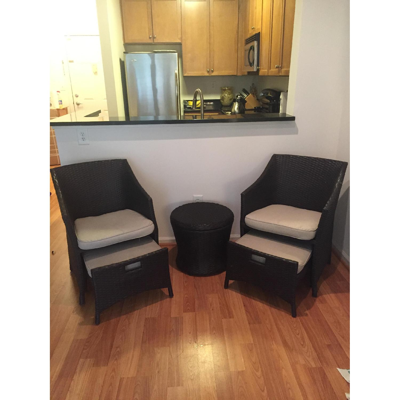 Threshold Loft 5-Piece Wicker Patio Conversation Furniture Set - image-4