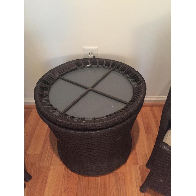 Threshold Loft 5-Piece Wicker Patio Conversation Furniture Set - image-5