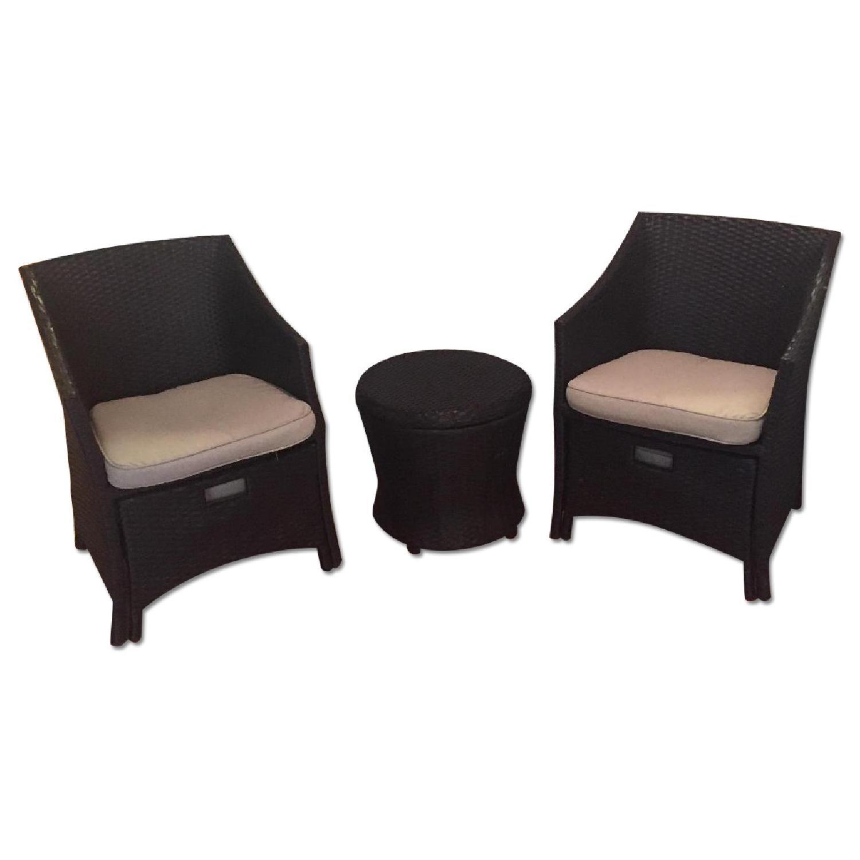 Threshold Loft 5-Piece Wicker Patio Conversation Furniture Set - image-0