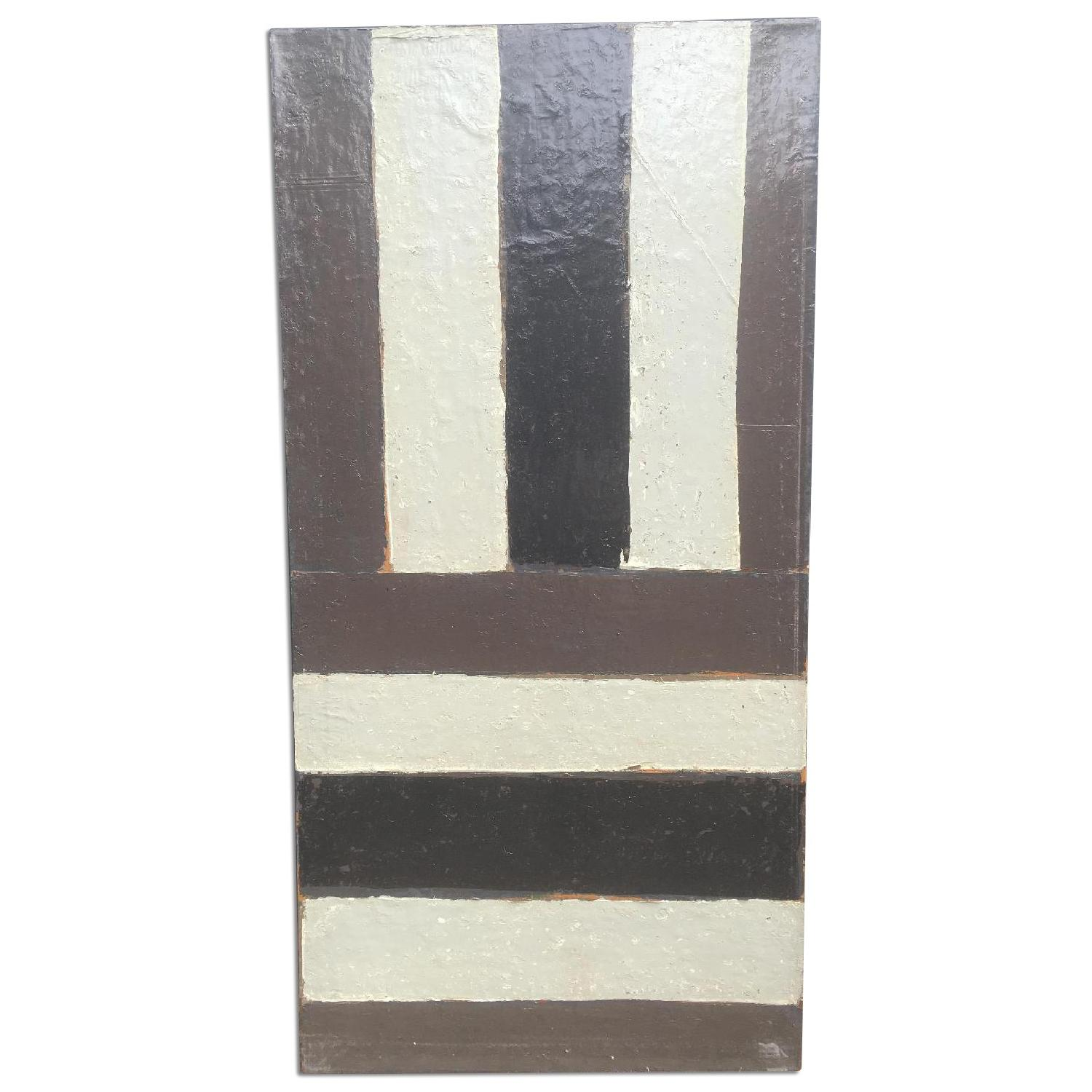 Vintage Oversized Geometric Abstract Painting