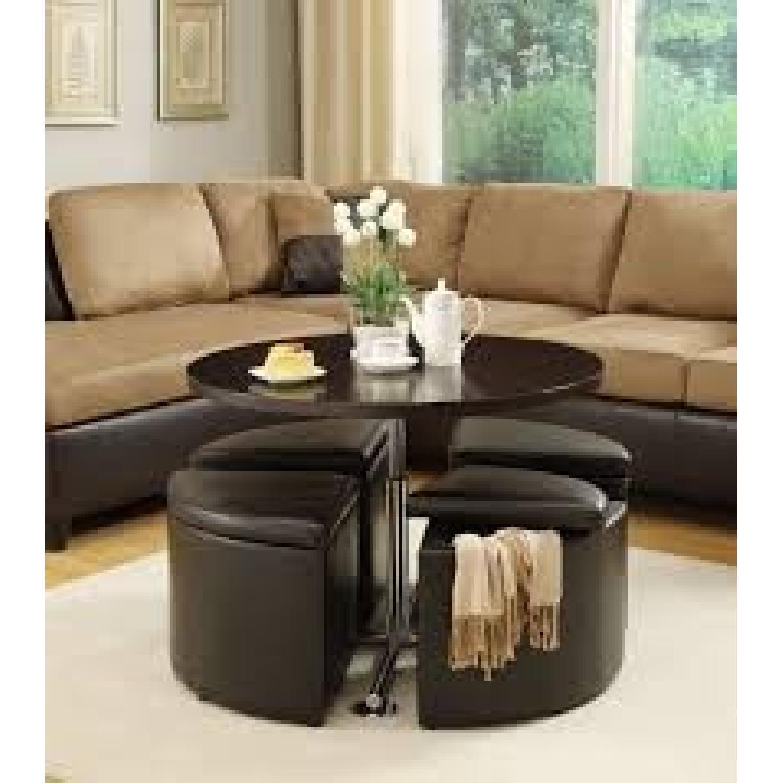 Neptune Coffee Table W 4 Storage Ottomans Aptdeco