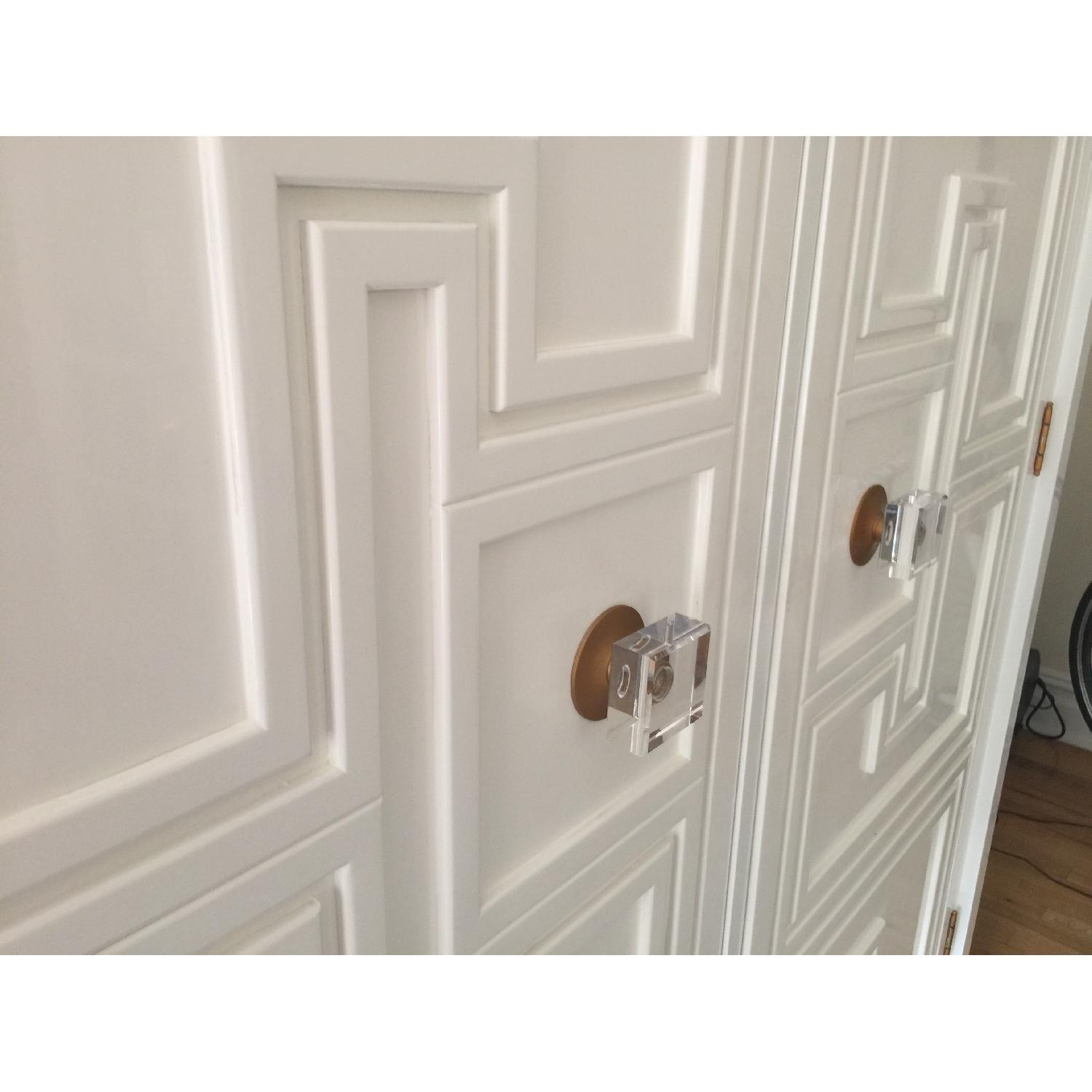 Anthropologie White Lacquer Armoire - image-1