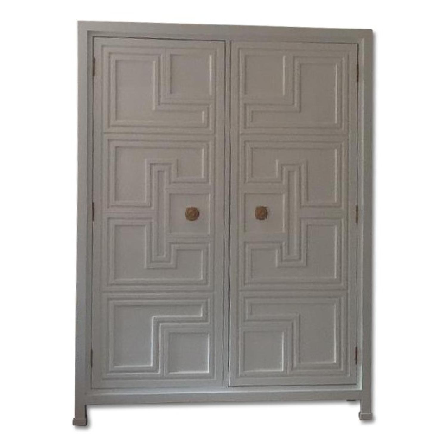 Anthropologie White Lacquer Armoire - image-0
