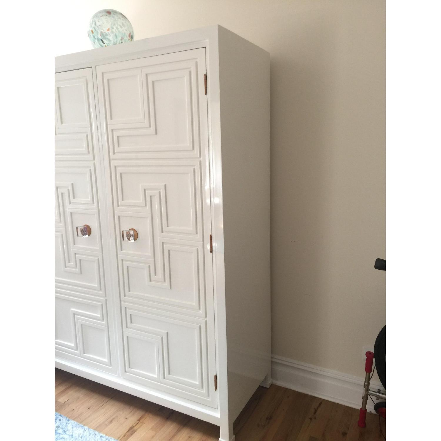 Anthropologie White Lacquer Armoire - image-3