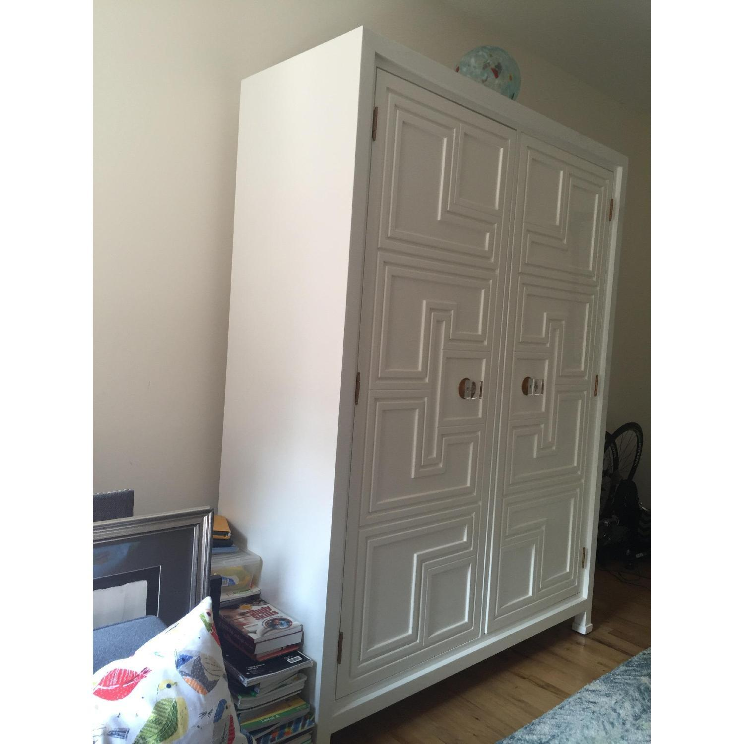 Anthropologie White Lacquer Armoire - image-4