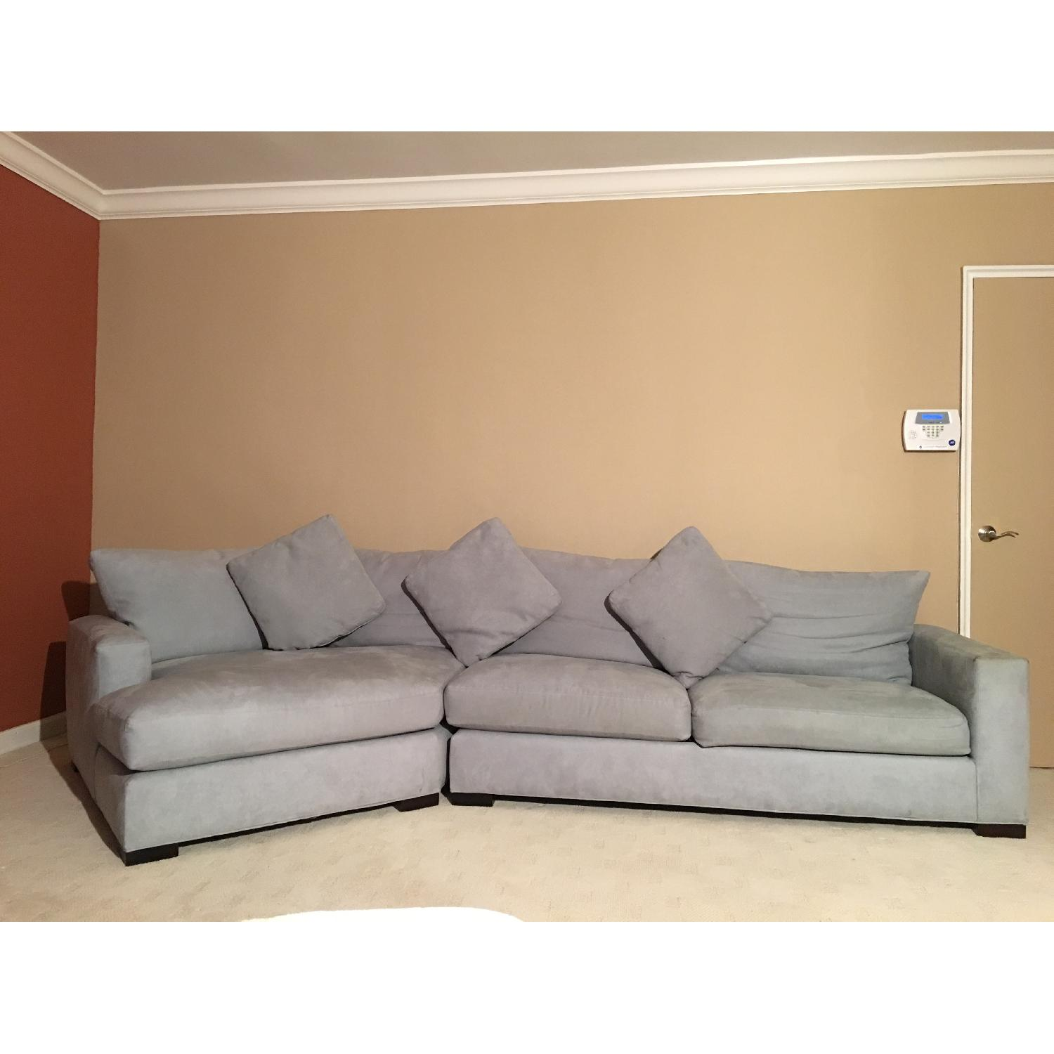 Room & Board Microsuede L-Shaped Couch - image-1