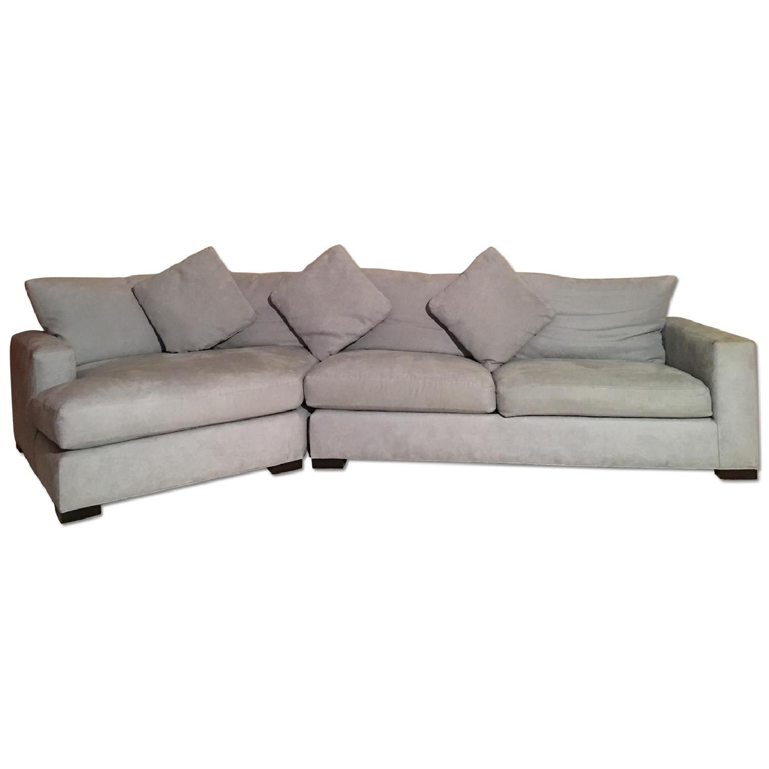 Room & Board Microsuede L-Shaped Couch - image-0