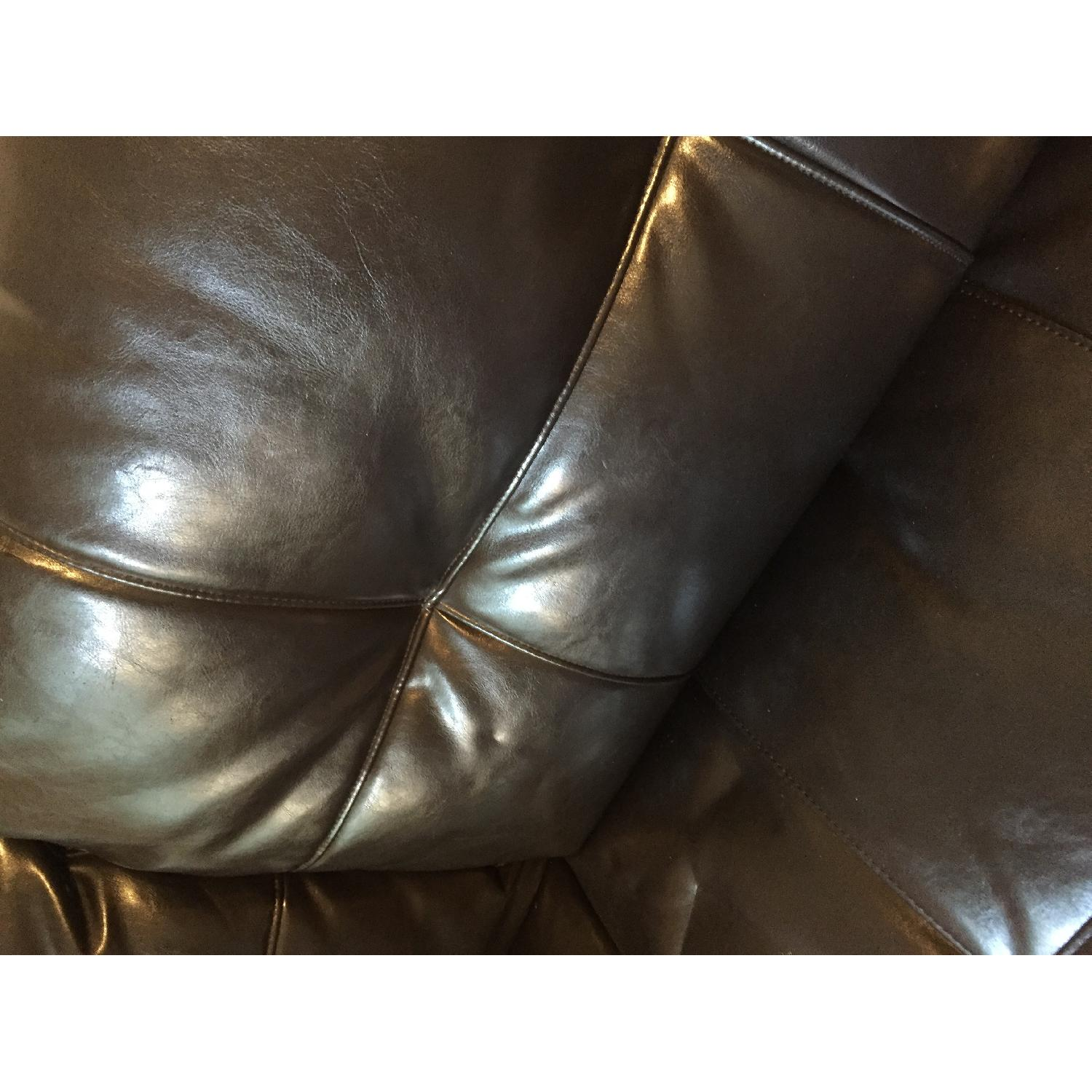 Jennifer Convertibles Black Leather Sofa - image-6