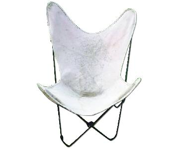 Vintage Knoll Style Butterfly Iron Frame Chair