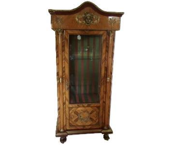 Wood Curio Cabinet
