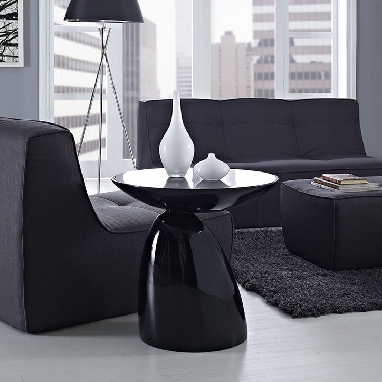 Manhattan Home Design Fiberglass Side Table in Black-1