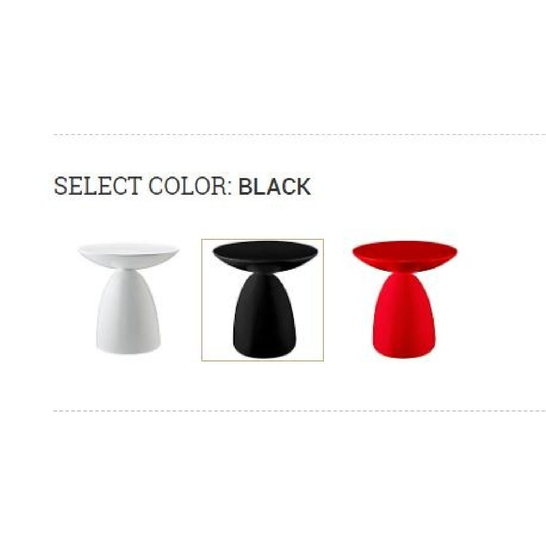 Manhattan Home Design Fiberglass Side Table in Black-3