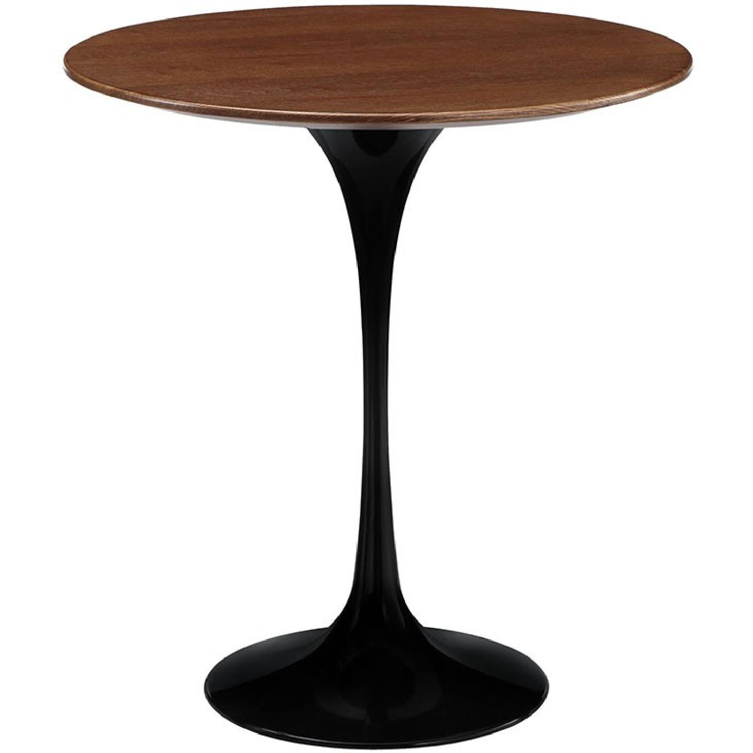 Manhattan Home Design Tulip Wood Side Table in Black
