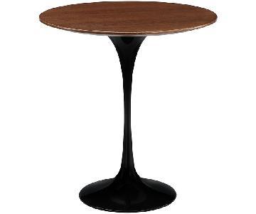 Manhattan Home Design Tulip Wood Side Table in Black
