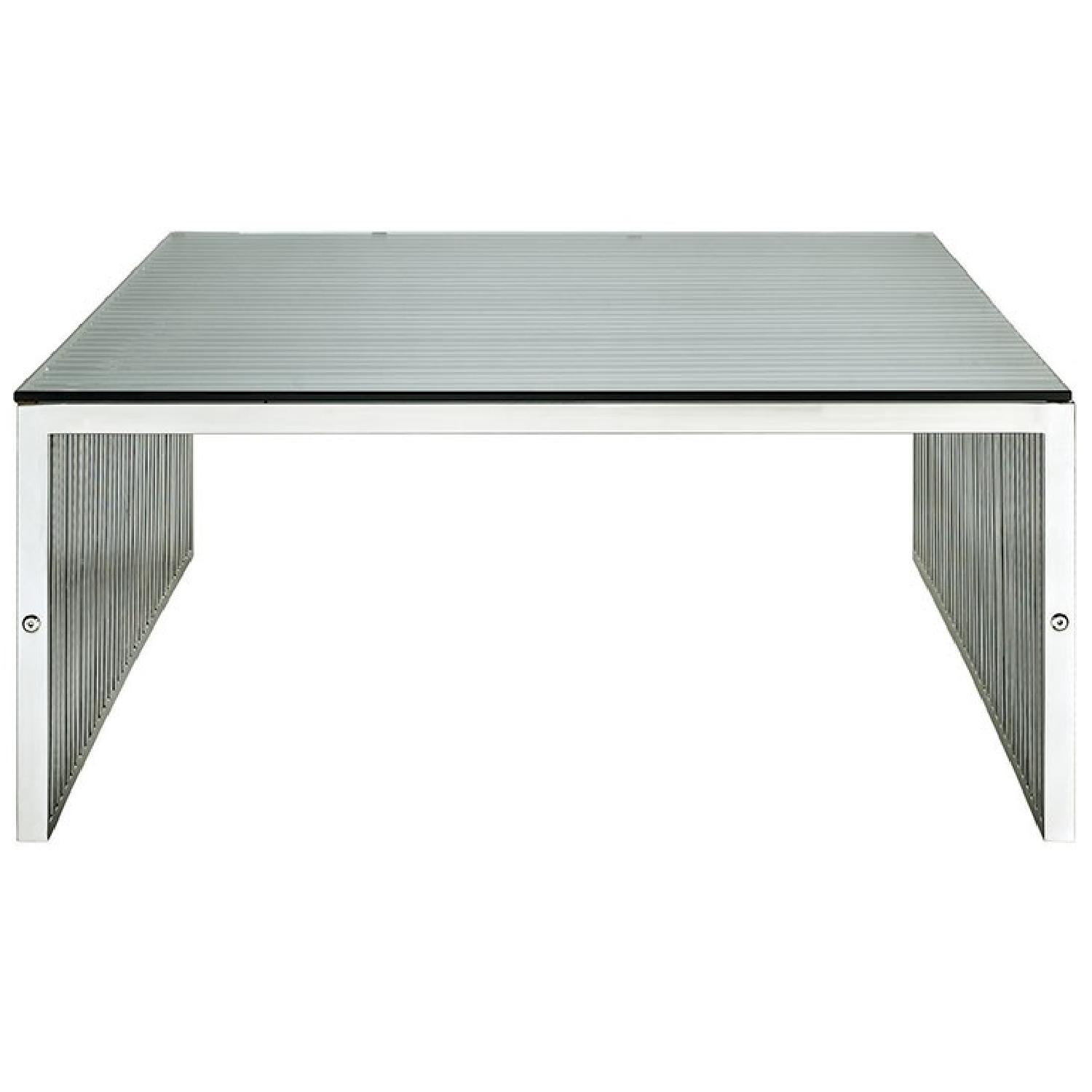Manhattan Home Design Stainless Steel Coffee Table-0