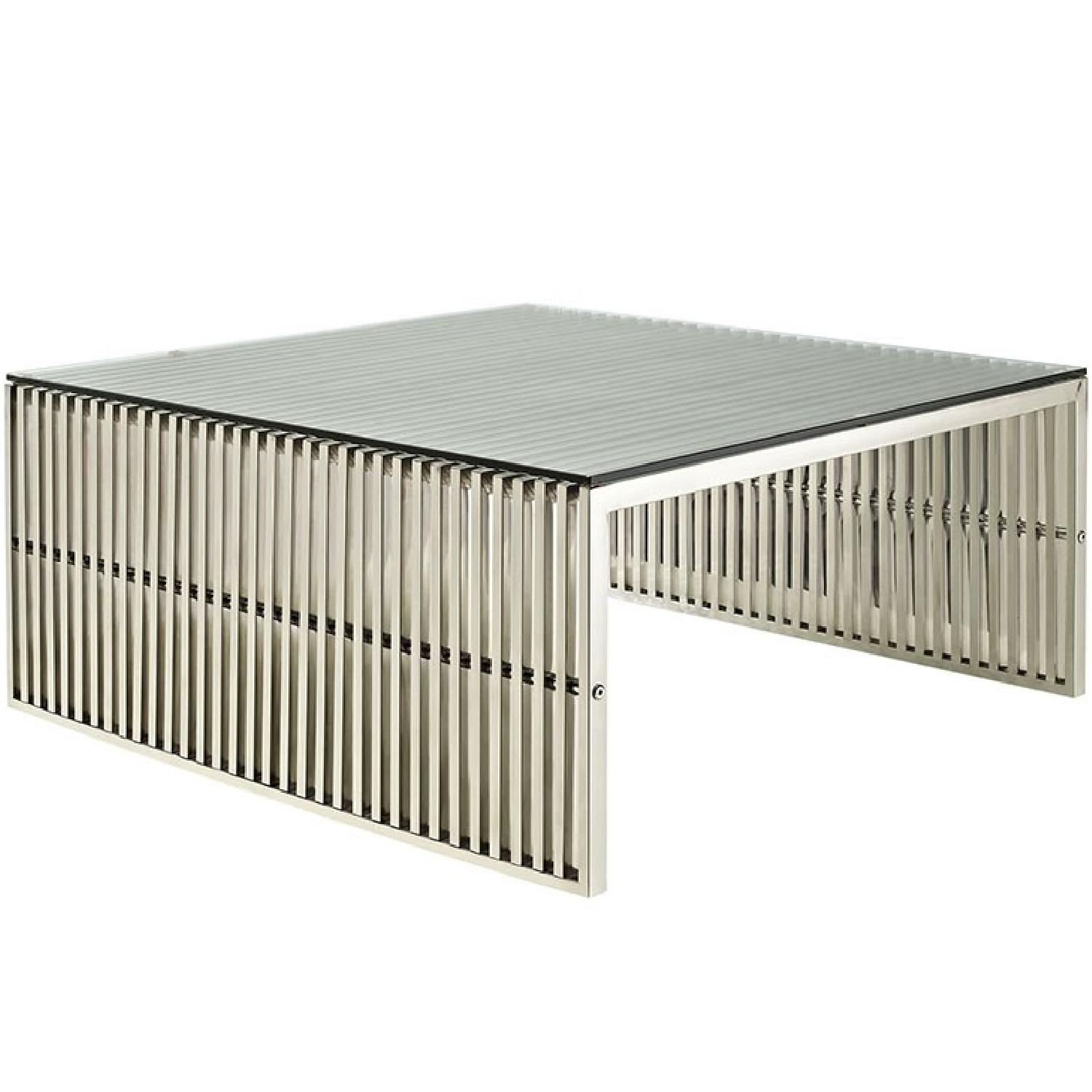 Manhattan Home Design Stainless Steel Coffee Table