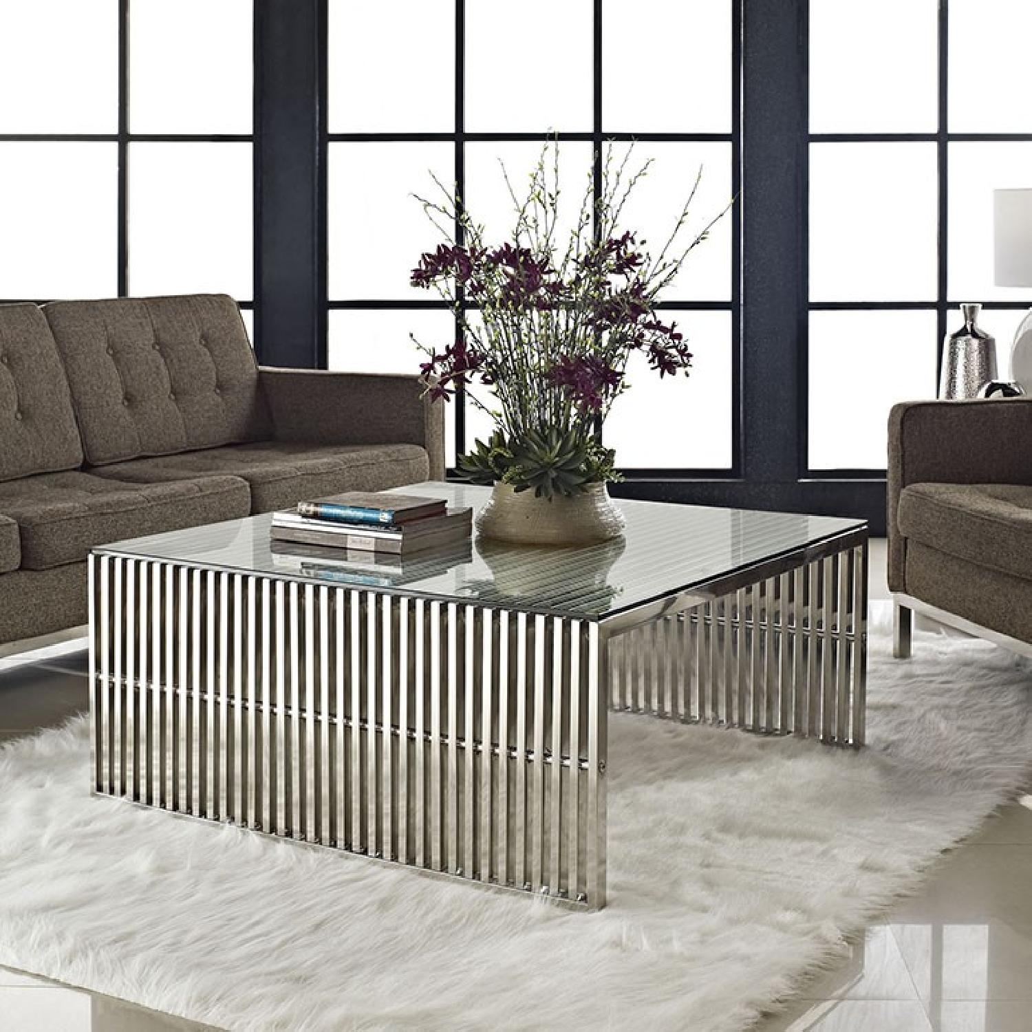 Manhattan Home Design Stainless Steel Coffee Table-2