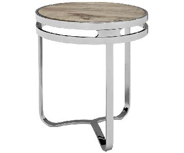 Manhattan home Design Provision Wood Top Side Table