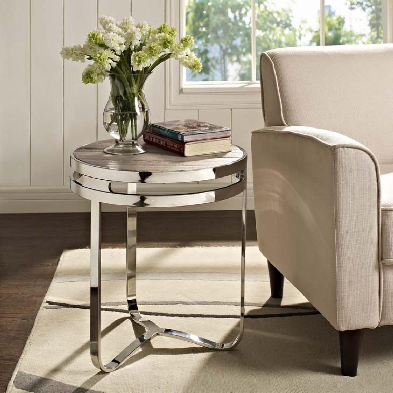 Manhattan home Design Provision Wood Top Side Table-0