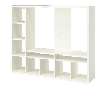Ikea Lappland Storage Unit w/ 4 Wicker Boxes