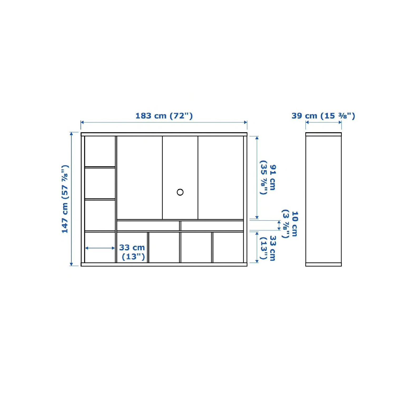 Ikea Lappland Storage Unit w/ 4 Wicker Boxes-1