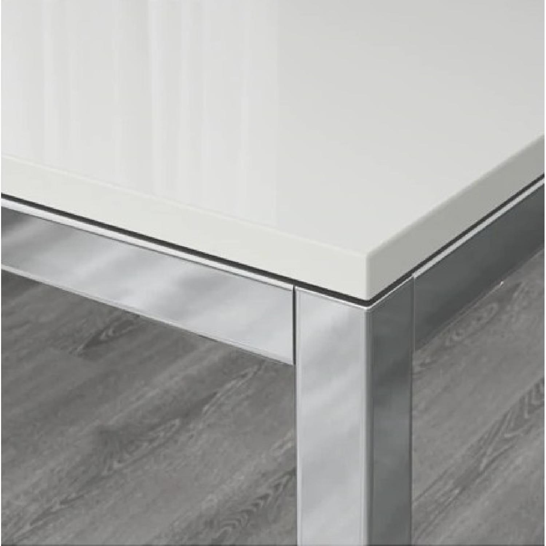 Ikea Torsby White High Gloss Chrome Table-1