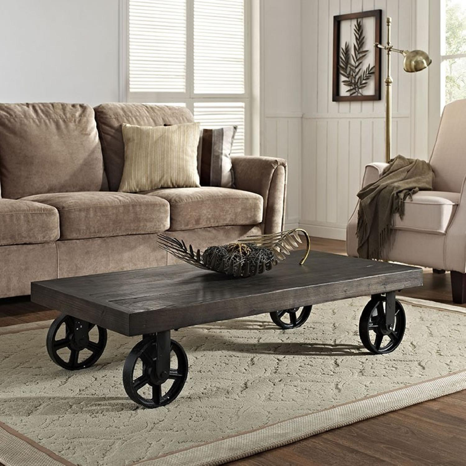 Manhattan Home Design Garrison Wood Coffee Table-2