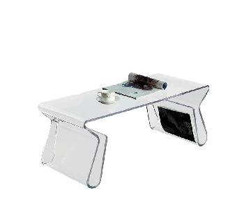 Manhattan Home Design Acrylic Coffee Table in Clear