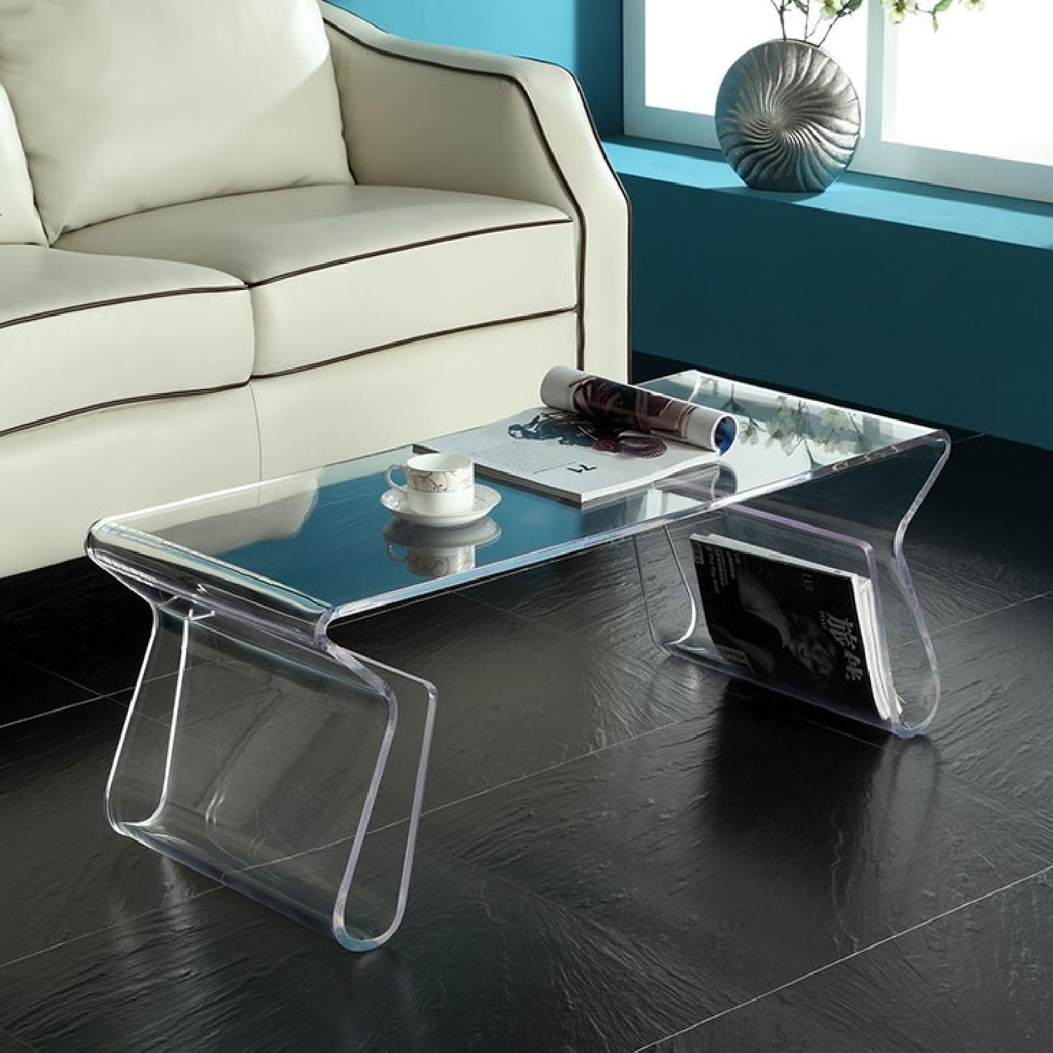 Manhattan Home Design Acrylic Coffee Table in Clear-0