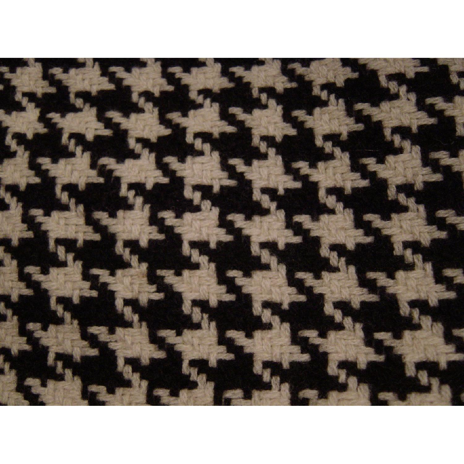 Houndstooth Upholstered Ottomans-1