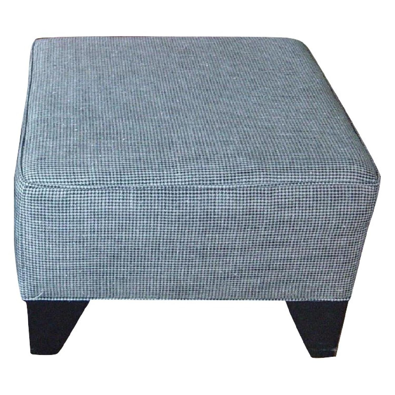 Houndstooth Upholstered Ottomans