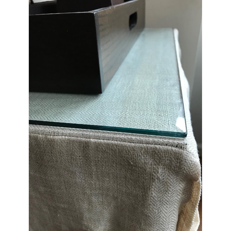 Ballard Designs Linen Draped Storage Table-5